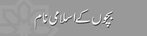 Islamic Muslim Names Meanings in Urdu and English, Muslim Boys Girls Baby Names بچوں کے اسلامی نام اور انکے معنی
