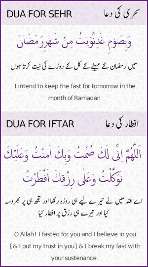 Ramadan Sehr Iftar Dua