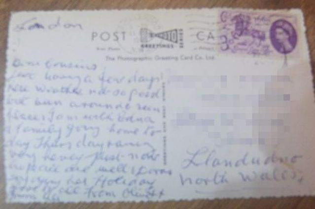 A postcard completed 55 years long journey