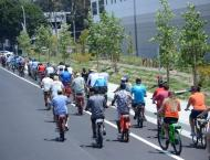 An electric cycle race made its way through the Guinness book of  ..