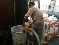 Hazardous cooking oil seized