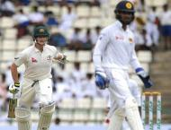 Cricket: Aussie openers ram home advantage over Lankans