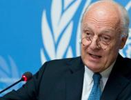 UN envoy aims for Syrian peace talks to resume in late August