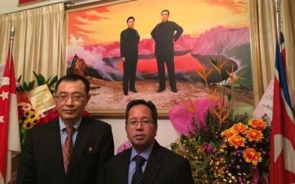 North Korean ambassador calls on Raiz Pirzada