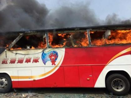 Chinese families in Taiwan to identify bus inferno bodies
