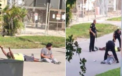 Police in Florida shoot black man lying on ground