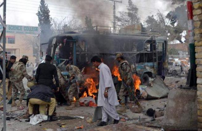 Bomb blast on security officials in Turbat, Quetta