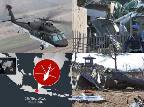 Indonesian chopper crashed, killing 3 personnel in Java