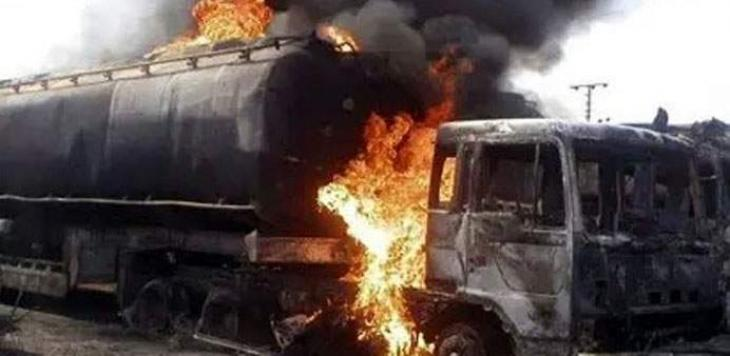 An oil Tanker caught fire in Rani pur, 10 casualties reported so far