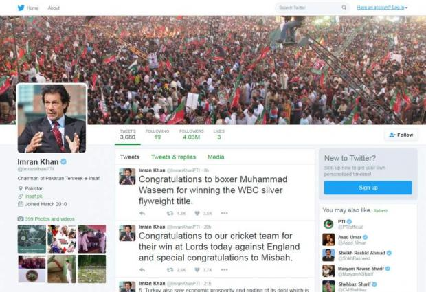 Khan covered Twitter with 40 million followers