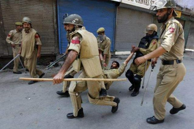 APP employees wear black armbands to mourn killing of Kashmiris