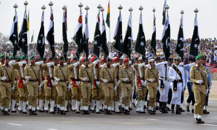 Army, FC, Police hold flag march ahead of polls