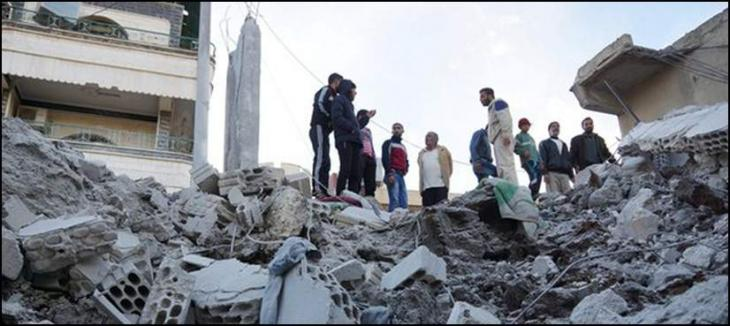 Syria warplanes bombing in the Syrian city of Idlib, killing 9 people