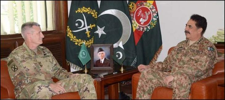 Army Chief General Raheel Sharif  met General John Nicholson