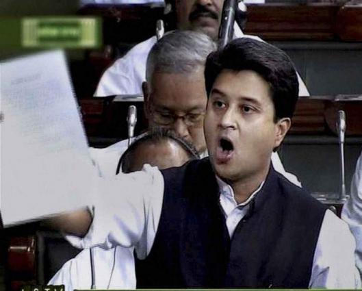 Jyotiraditya Madhaverao Scindia raises the issue of Kashmir