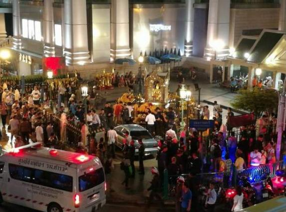 Car slams into Bangkok shrine, injures four