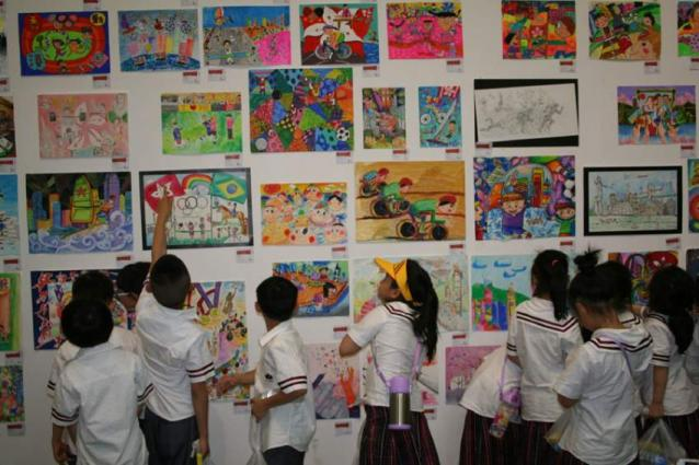 Painting exhibition of special children held