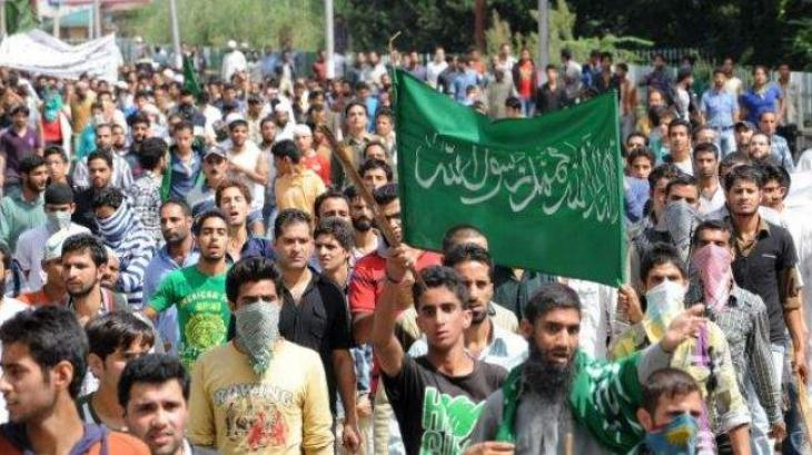 MOHR holds walk in solidarity with Kashmiri people