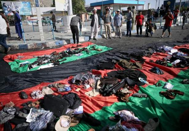 A bomb blasts in Kabul Capital of Afghanistan in Hazara minority march