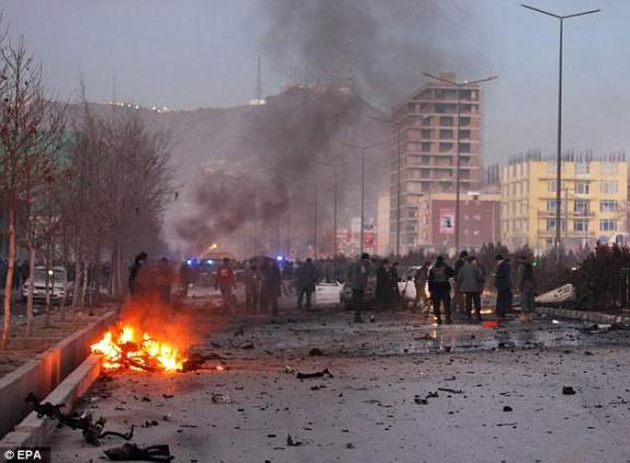 61 dead as IS claims twin blasts in Kabul