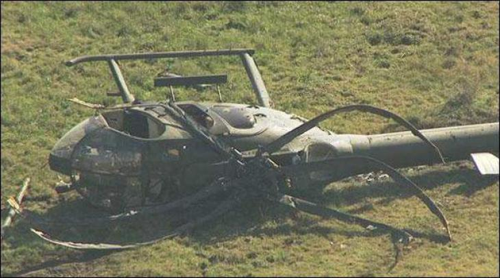 China: Helicopter crashed, pilot safe