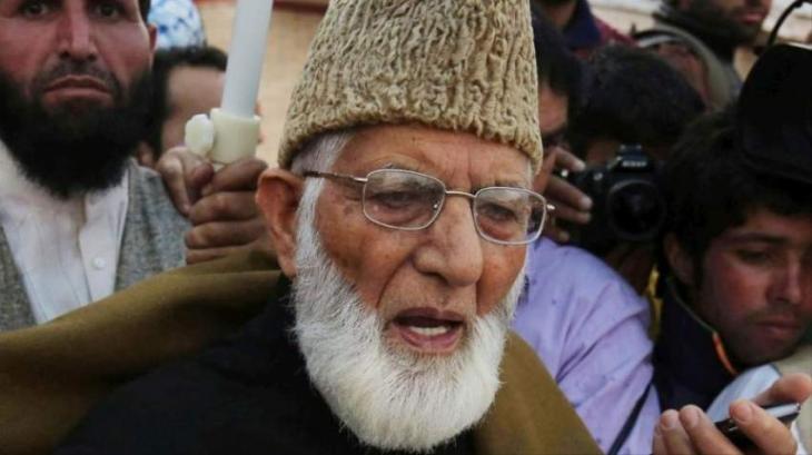 الزعيم الكشميري السيد علي غيلاني: الكشميريون لن يسلموا أمام الأعمال الوحشية الهندية
