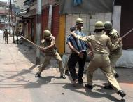 APHC stages protests against Indian atrocities in occupied Kashmi ..