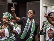 Zambia's Lungu re-elected as rival cries foul