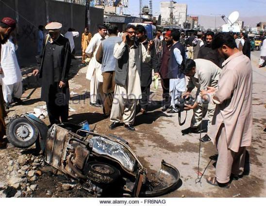 إصابة خمسة أشخاص بينهم ثلاثة من رجال الأمن في انفجار قنبلة بإقليم بلوشستان بجنوب غرب البلاد