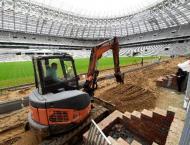 Football: FIFA head to delay-hit WC 2018 stadium