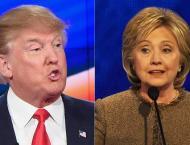 Trump courts core conservatives, Clinton talks security