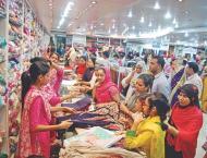 Hustle, bustle at shopping malls, cattle markets gaining