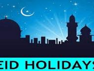 Eid holidays announced in public universities