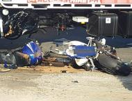 Motorcyclist crushed to death, 2 injured