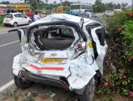 Six persons injured in different road accidents