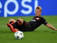 Football: Finland's Pohjanpalo out for Leverkusen