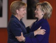 Clinton hails Merkel as a favorite world leader