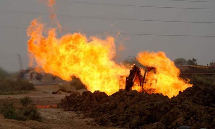 مسلحون ينسفون أنبوبا للغاز الطبيعي في منطقة ديرة بغتي بإقليم بلوشستان