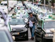 Anti-Uber taxi protest blocks Lisbon airport access