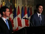 Trudeau, Valls promote EU-Canada trade pact