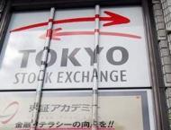 Tokyo stocks down at break