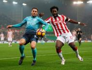 Football: Bony back among the goals in Stoke win