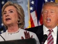 Clinton, Trump stage dueling rallies as race narrows