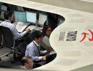 Tokyo stocks edge higher after wild trading