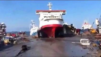 مقتل سبعة أشخاص وإصابة 40 آخر بجروح جراء حريق في سفينة بباكستان