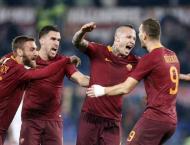 Football: Nainggolan fires Roma past 'unlucky' AC Milan