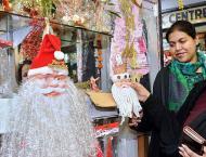 Christmas Sasta Bazars set up