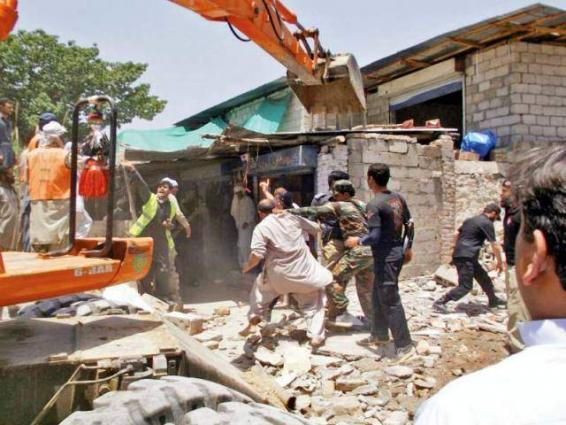 Anti-encroachment operation in Surjani town