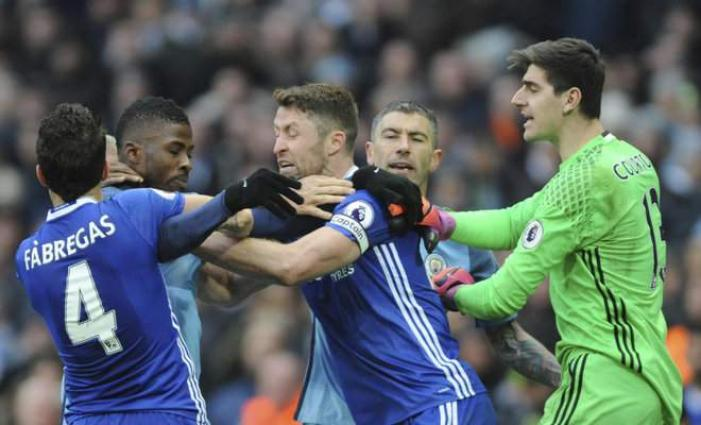 Football: Chelsea, Man City fined over melee