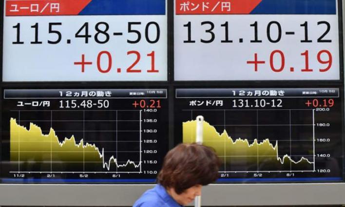Tokyo stocks down at break ahead of Fed meeting